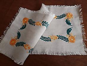 Úžitkový textil - Vyšívaná dečka - kvetovaná (3) - 10588467_