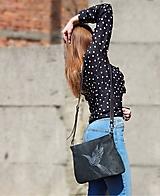 """Kabelky - MILA """"Bird"""" kožená kabelka s vypaľovaným obrázkom - 10588474_"""