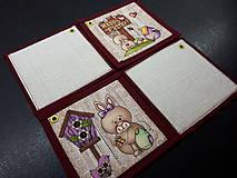Úžitkový textil - Kuchynský set (Veľkonočné podšálky/žltá) - 10590623_