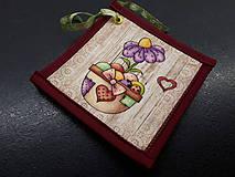 Úžitkový textil - Kuchynský set (Veľkonočné podšálky/žltá) - 10590627_