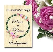 Darčeky pre svadobčanov - Svadobná magnetka - 10590729_