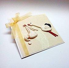 Papiernictvo - Pohľadnica ... priletí bocian - 10590895_