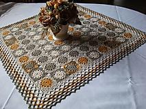 Úžitkový textil - *** Háčkovaný štvorec - zemité odtiene ***  *** - 10590831_