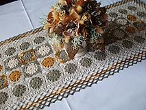 Úžitkový textil - *** Háčkovaný obdlžník  - zemité odtiene ***  *** - 10590909_