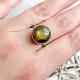 Prstene - Elegant Labradorite Stainless Steel Ring / Elegantný prsteň s labradoritom z chirurgickej ocele /2062 - 10589972_