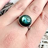 Prstene - Elegant Labradorite Stainless Steel Ring / Elegantný prsteň s labradoritom z chirurgickej ocele /2062 - 10589996_