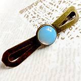 Ozdoby do vlasov - Vintage Elegant Opalite Hair Clip / Vintage spona s opalitom /2063 - 10590416_