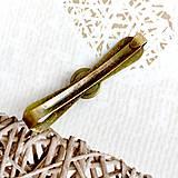 Ozdoby do vlasov - Vintage Elegant Opalite Hair Clip / Vintage spona s opalitom /2063 - 10590423_