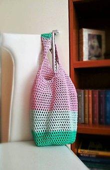 Nákupné tašky - Sieťovka v jarných farbách - 10590907_