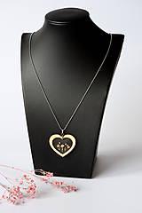 Náhrdelníky - Náhrdelník Srdce pre milú (2585 B CHO) - 10590533_