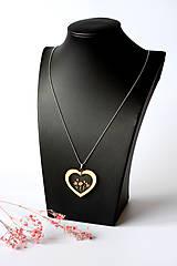 Náhrdelníky - Náhrdelník Srdce pre milú (2585 B CHO) - 10590535_