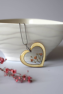 Náhrdelníky - Náhrdelník Srdce pre milú (2585 B CHO) - 10590547_