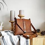 Kabelky - Kožená kabelka Gina (orieškovo hnedá) - 10589565_