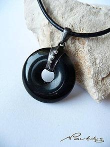 Šperky - Donut - Čierny ónyx - 10591057_