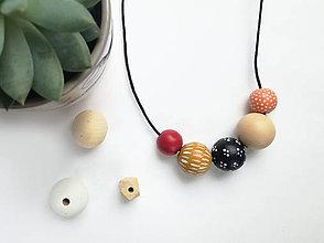 Náhrdelníky - Farebný náhrdelnik - 10590620_