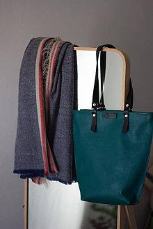 Veľké tašky - kožená_tyrkysová - 10591051_