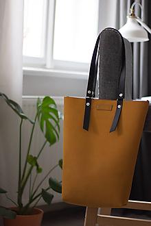 Veľké tašky - kožená_okrová - 10591097_