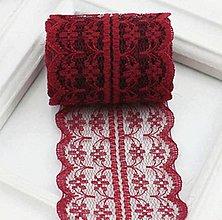 Galantéria - Pásová čipka 45mm (Bordová) - 10589841_