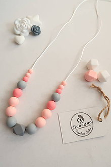 Náhrdelníky - Silikónový dojčiaci náhrdelník - 10591535_