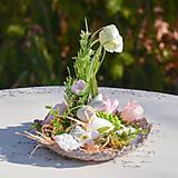 Dekorácie - Jarná dekorácia so zajačikom - 10589535_