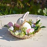 Dekorácie - Jarná dekorácia so zajačikom - 10589537_