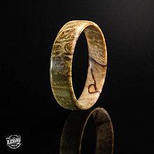 Prstene - drevený prsteň - zelený javorový koreň - 10589873_