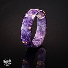 Prstene - Drevený prsteň- fialový javorový koreň - 10589974_