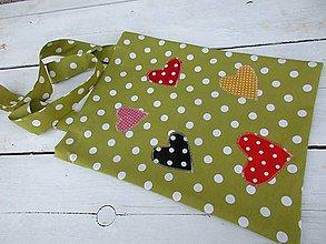 Nákupné tašky - zelená bodka - 10590771_