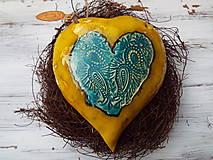 Socha - Srdiečko v hniezdočku (Žltá) - 10589676_