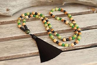 Náhrdelníky - Japa Mala náhrdelník jaspis, jadeit, onyx, tyrkys - 10591223_