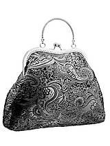 Kabelky - Spoločenská kabelka brokátová čierná 03H - 10594251_