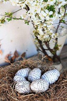 Dekorácie - Veľkonočné vintage vajíčka - 10593575_