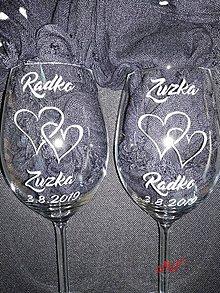 Nádoby - Svadobné poháre - 10594282_