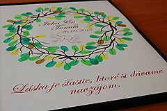 Svadobný obraz - venček 40x30