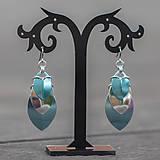Náušnice - Krovky Luxury - náušnice (světle modrá) - 10592076_