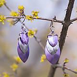 Náušnice - Krovky Luxury - náušnice (fialová) - 10592088_
