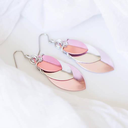 Krovky Luxury - náušnice (světle ružová)