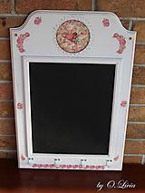 Tabuľky - Tabuľa kriedová, aj magnetická - Amorko s ružičkami - 10594176_