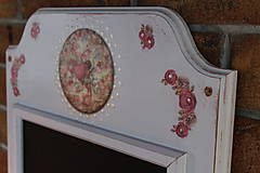 Tabuľky - Tabuľa kriedová, aj magnetická - Amorko s ružičkami - 10594177_