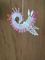 Dekorácie - paličkovaný vtáčik - 10593082_