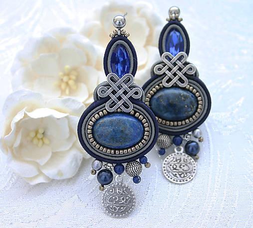 Pod arabskou oblohou /šujtášové náušnice s lapis lazuli/