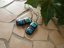 Náušnice - Blue-silver - 10593033_