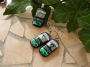 Sady šperkov - Set Green-silver - 10592998_