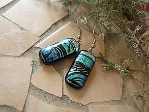 Náušnice - Blue-silver - 10593030_