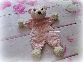 Hračky - Mojkáčik - ružový macko - 10594056_