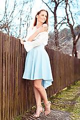 Sukne - Ľanová sukňa s výšivkou - 10594369_