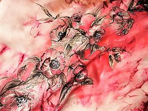 Šatky - Šamanské květy /hedvábný šátek 75x75cm/ - 10593972_