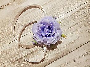 Pierka - náramok svadobný svetlofialový pre družičku - 10594096_