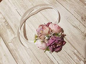 Kytice pre nevestu - náramok pre družičky v ružových odtieňoch - 10594142_