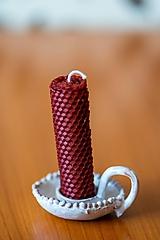 Svietidlá a sviečky - Usmej sa na mňa: Keramický svietnik - 10593164_